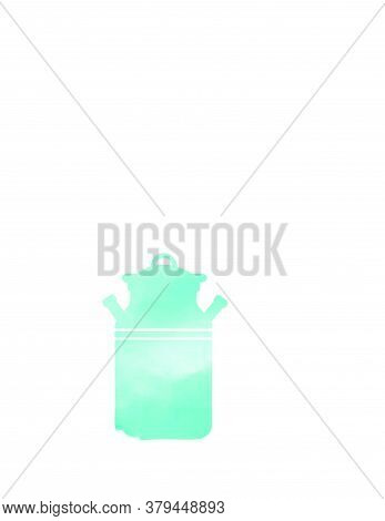 Cattle Milk Water Color Style Logo And Vector Icon