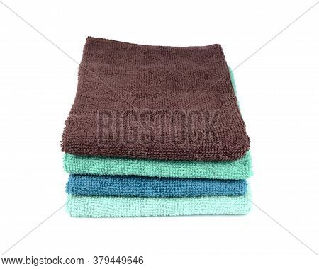 B Athroom Hand Towels Isolate On White Background