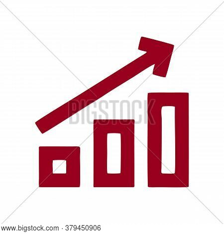 Growth Graph Icon Isolated On White Background From User Interface Collection. Growth Graph Icon Tre