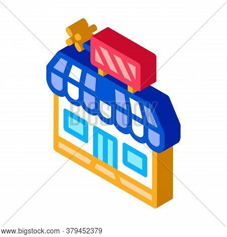 Firework Shop Icon Vector. Isometric Firework Shop Sign. Color Isolated Symbol Illustration