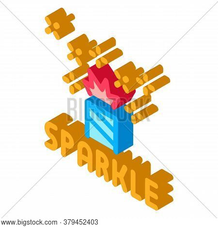 Sparkle Firework Icon Vector. Isometric Sparkle Firework Sign. Color Isolated Symbol Illustration