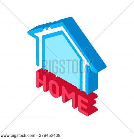 Webshop Home Button Icon Vector. Isometric Webshop Home Button Sign. Color Isolated Symbol Illustrat