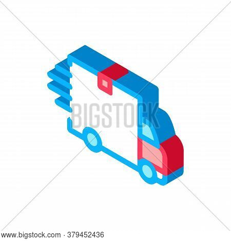 Webshop Delivery Icon Vector. Isometric Webshop Delivery Sign. Color Isolated Symbol Illustration