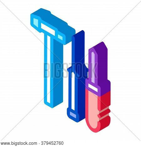Watch Repair Fixing Instrument Icon Vector. Isometric Watch Repair Fixing Instrument Sign. Color Iso