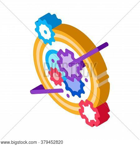 Watch Mechanism Icon Vector. Isometric Watch Mechanism Sign. Color Isolated Symbol Illustration