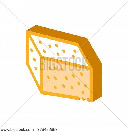 Soy Tofu Icon Vector. Isometric Soy Tofu Sign. Color Isolated Symbol Illustration