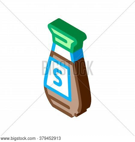 Soy Sauce Bottle Icon Vector. Isometric Soy Sauce Bottle Sign. Color Isolated Symbol Illustration