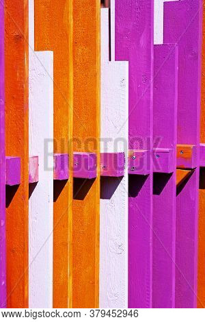 Strange Fence In Umea Painted With Intense Colors
