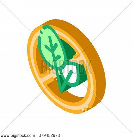 Soy Leaves Crossed Out Sign Icon Vector. Isometric Soy Leaves Crossed Out Sign Sign. Color Isolated