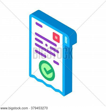 Payment Receipt Icon Vector. Isometric Payment Receipt Sign. Color Isolated Symbol Illustration