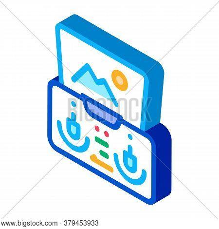 Drone Smartphone App Remote Controle Icon Vector. Isometric Drone Smartphone App Remote Controle Sig