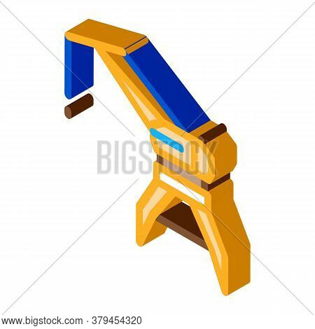 Crane Tower Icon Vector. Isometric Crane Tower Sign. Color Isolated Symbol Illustration