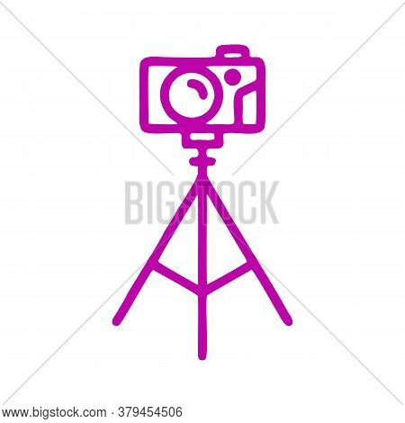 Camera Icon Isolated On White Background From Cinema Collection. Camera Icon Trendy And Modern Camer