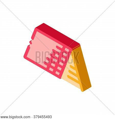 Roof Building Exterior Icon Vector. Isometric Roof Building Exterior Sign. Color Isolated Symbol Ill