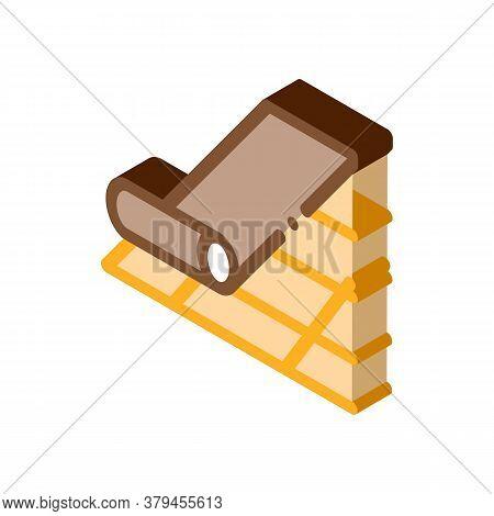 Roof Bitumen Shingle Icon Vector. Isometric Roof Bitumen Shingle Sign. Color Isolated Symbol Illustr