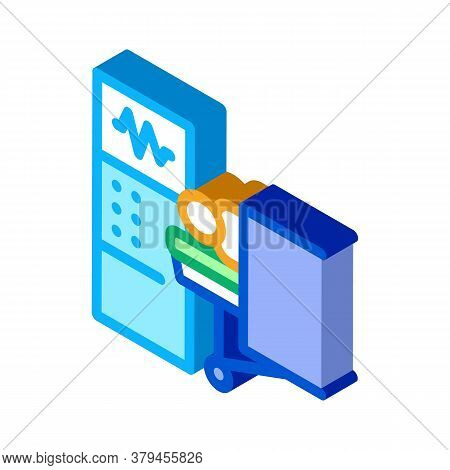 Patient And Surgeon Medical Equipment Icon Vector. Isometric Patient And Surgeon Medical Equipment S