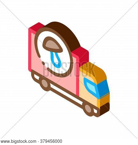 Mushroom Delivery Icon Vector. Isometric Mushroom Delivery Sign. Color Isolated Symbol Illustration