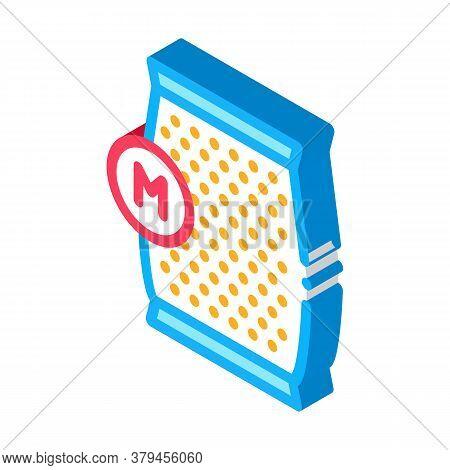 Mushroom Spawn Bag Icon Vector. Isometric Mushroom Spawn Bag Sign. Color Isolated Symbol Illustratio