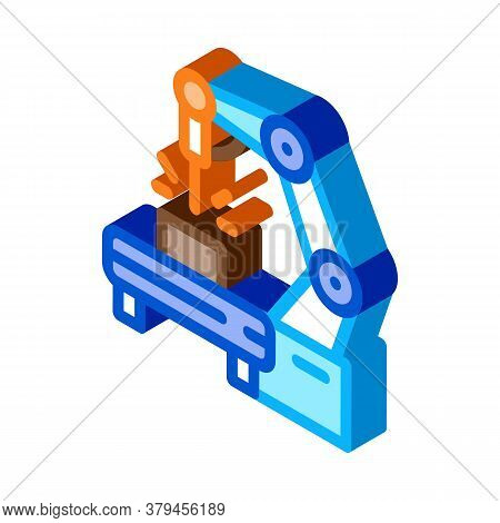 Manufacturing Engineering Machine Icon Vector. Isometric Manufacturing Engineering Machine Sign. Col