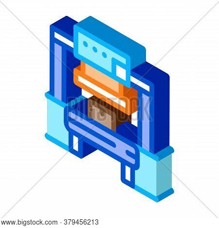 Manufacturing Factory Tool Icon Vector. Isometric Manufacturing Factory Tool Sign. Color Isolated Sy