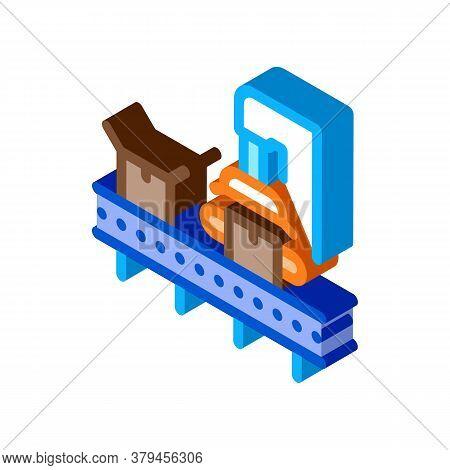 Machine For Close Box Icon Vector. Isometric Machine For Close Box Sign. Color Isolated Symbol Illus