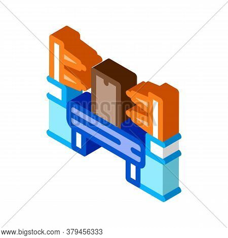 Automation Manufacturing Icon Vector. Isometric Automation Manufacturing Sign. Color Isolated Symbol