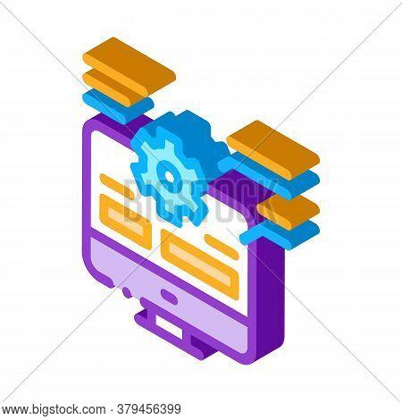 Web Site Technician Characteristics Icon Vector. Isometric Web Site Technician Characteristics Sign.