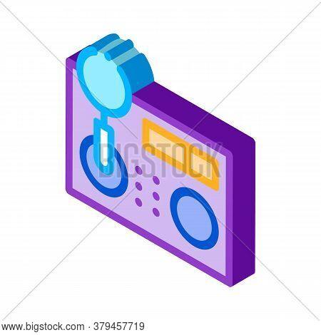 Research Broken Radio Icon Vector. Isometric Research Broken Radio Sign. Color Isolated Symbol Illus