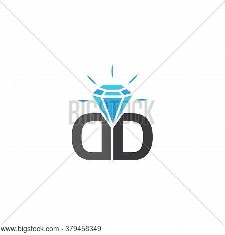 Crystal Stone Line Icons Symbol Vector Illustration. Crystal Diamond Jewelry