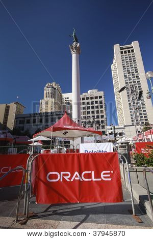 San Francisco, Ca, Oct 1, 2012 - Oracle Openworld Conference Zone At Union Square On Oct 1, 2012 In