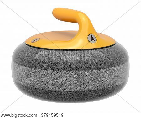 Curling Stone Isolated On White Background - 3d Illustration