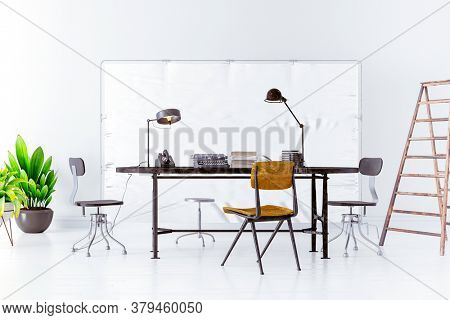 3d image of working place setup