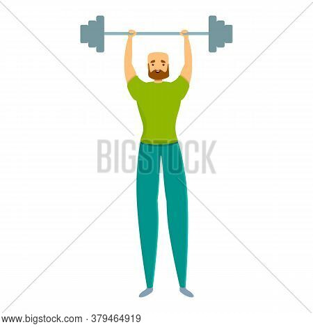 Barbell Personal Trainer Icon. Cartoon Of Barbell Personal Trainer Vector Icon For Web Design Isolat