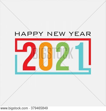 2021 Color Vector Background. Happy New Year 2021 Color . Vector Brochure Or Calendar Cover Design T