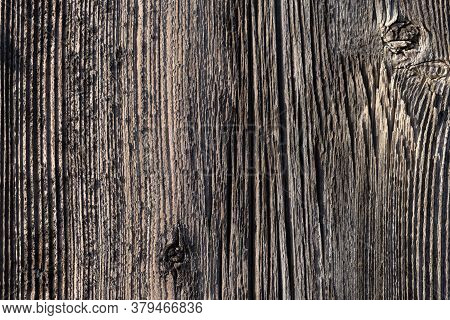 Untreated Vertical Wood Plank Board Close Up. Natural Wood Texture For Background. Old Wood Texture.