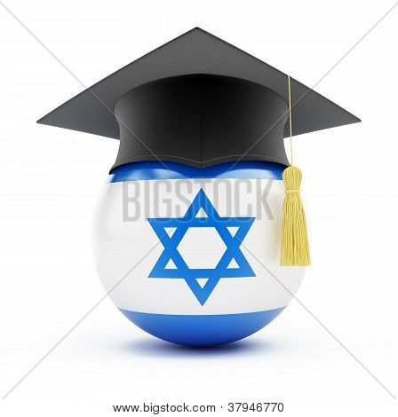 education in israel on a white background poster