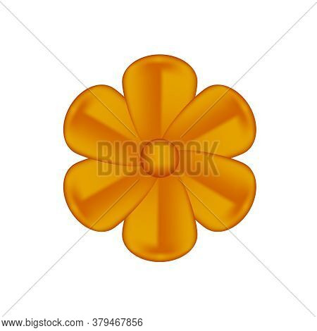 Flowers Copper Ornate Isolated On White, Luxury Flower Petal Copper Simple, Copper Flowers Object Me