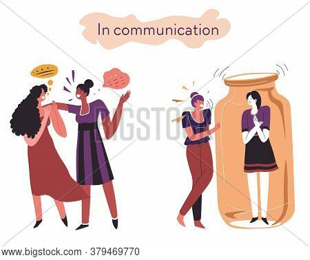 Extrovert And Introvert Comparison Of Behavior In Communication