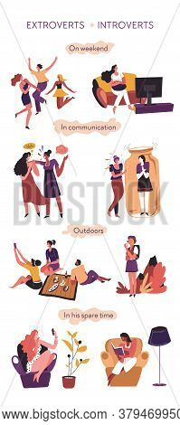 Extrovert And Introvert Comparison In Communication And Behavior