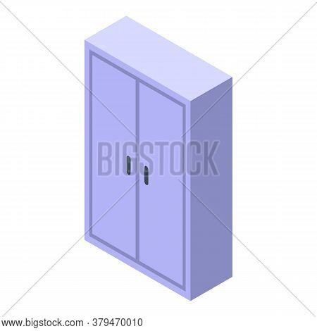 Wardrobe Storage Document Icon. Isometric Of Wardrobe Storage Document Vector Icon For Web Design Is