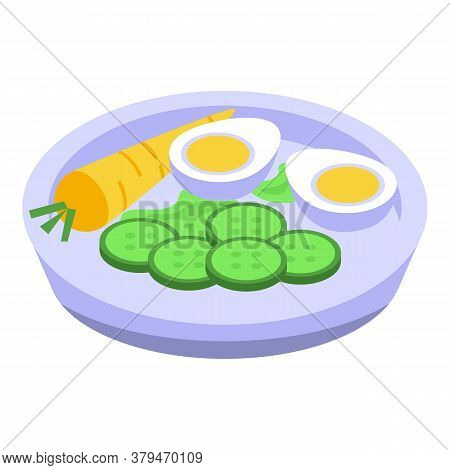 Organic Food Eat Icon. Isometric Of Organic Food Eat Vector Icon For Web Design Isolated On White Ba