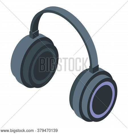 Listen Music Headphones Icon. Isometric Of Listen Music Headphonesvector Icon For Web Design Isolate