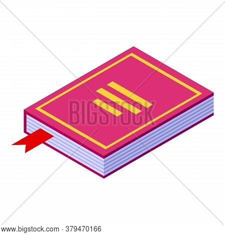 Reading Book Habit Icon. Isometric Of Reading Book Habit Vector Icon For Web Design Isolated On Whit