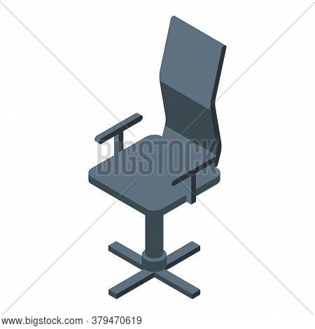 Boss Office Chair Icon. Isometric Of Boss Office Chair Vector Icon For Web Design Isolated On White