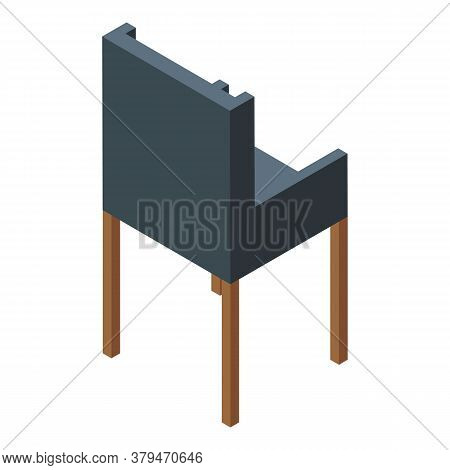 Modern Chair Icon. Isometric Of Modern Chair Vector Icon For Web Design Isolated On White Background