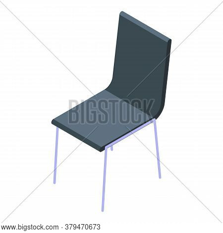 Plastic Chair Icon. Isometric Of Plastic Chair Vector Icon For Web Design Isolated On White Backgrou
