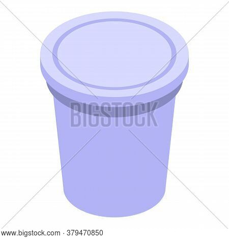 Drink Cup Storage Icon. Isometric Of Drink Cup Storage Vector Icon For Web Design Isolated On White