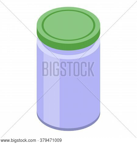 Food Storage Jar Icon. Isometric Of Food Storage Jar Vector Icon For Web Design Isolated On White Ba