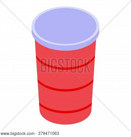 Drink Cold Cup Icon. Isometric Of Drink Cold Cup Vector Icon For Web Design Isolated On White Backgr