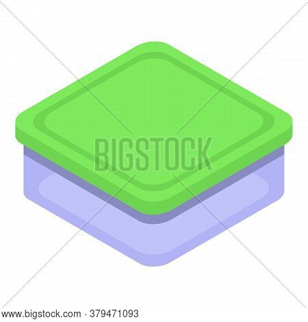 Food Container Box Icon. Isometric Of Food Container Box Vector Icon For Web Design Isolated On Whit